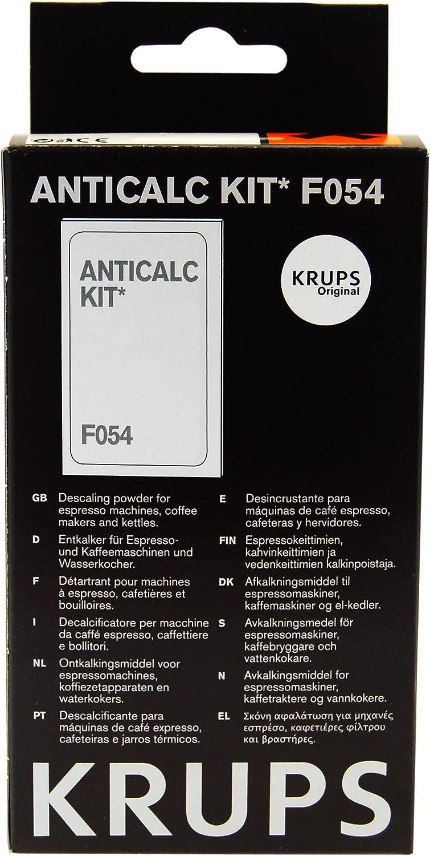Krups Anti-cal Kit F054, Agente desincrustante Máquinas de café ...
