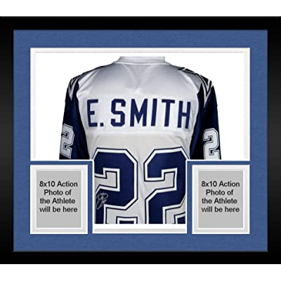 online store 21ce5 a6851 Framed Emmitt Smith Dallas Cowboys Autographed White ...