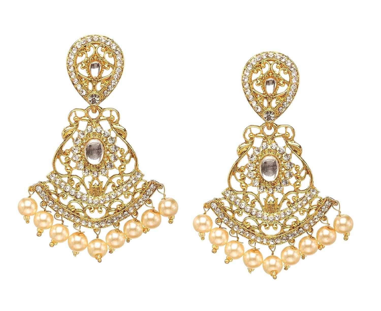 Jewelry & Watches Bollywood Traditional Ethnic Indian Gold Polki Kundan Earrings Wedding Jewellery Customers First