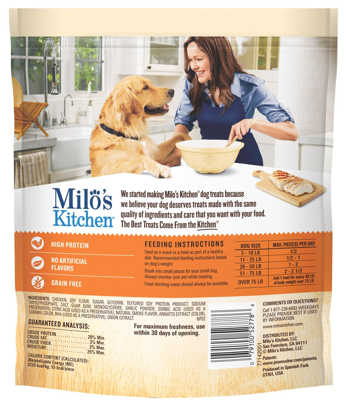 Milo s Kitchen Chicken Jerky Strips Dog Treats, 15-Ounce