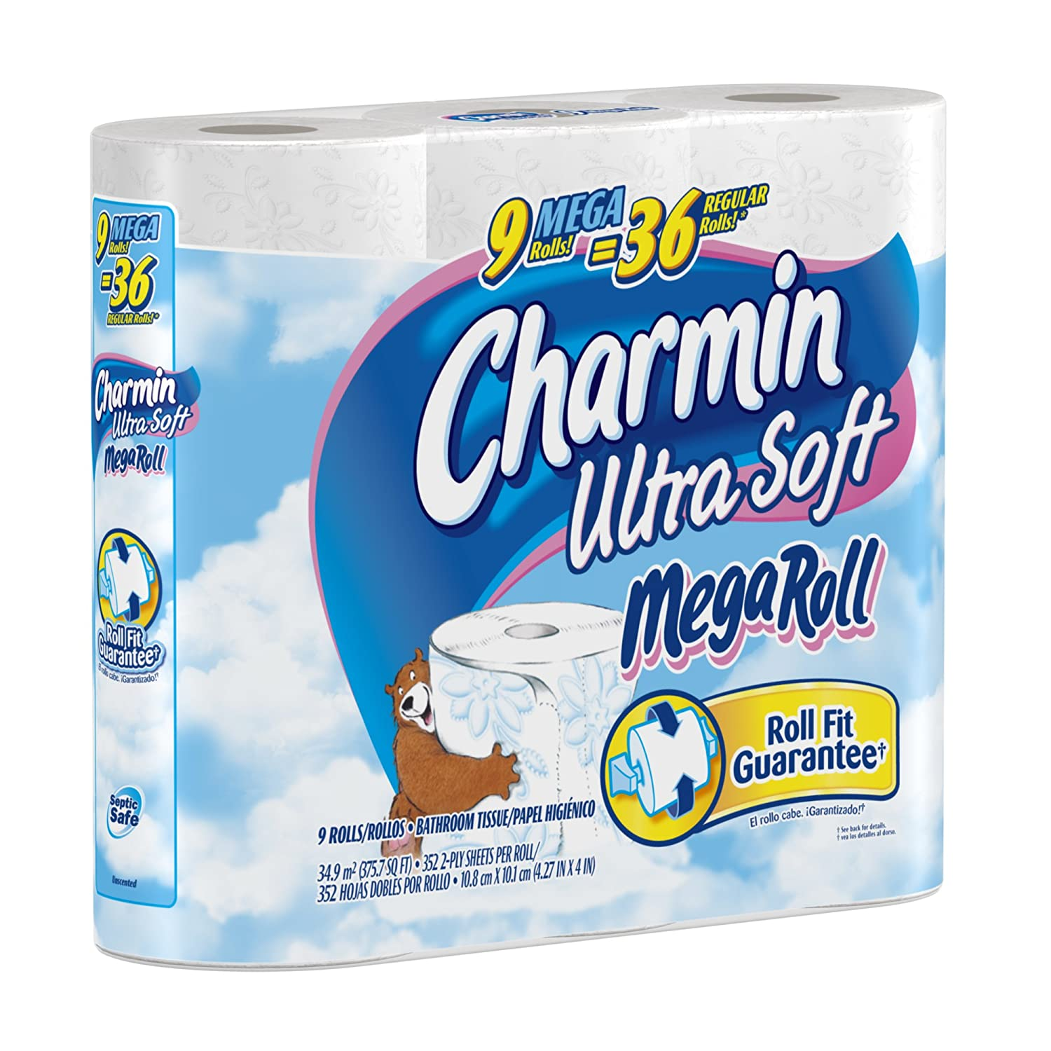 Amazon.com: Charmin Ultra Soft Mega Rolls, 9-Count (Pack of 4): Health & Personal Care