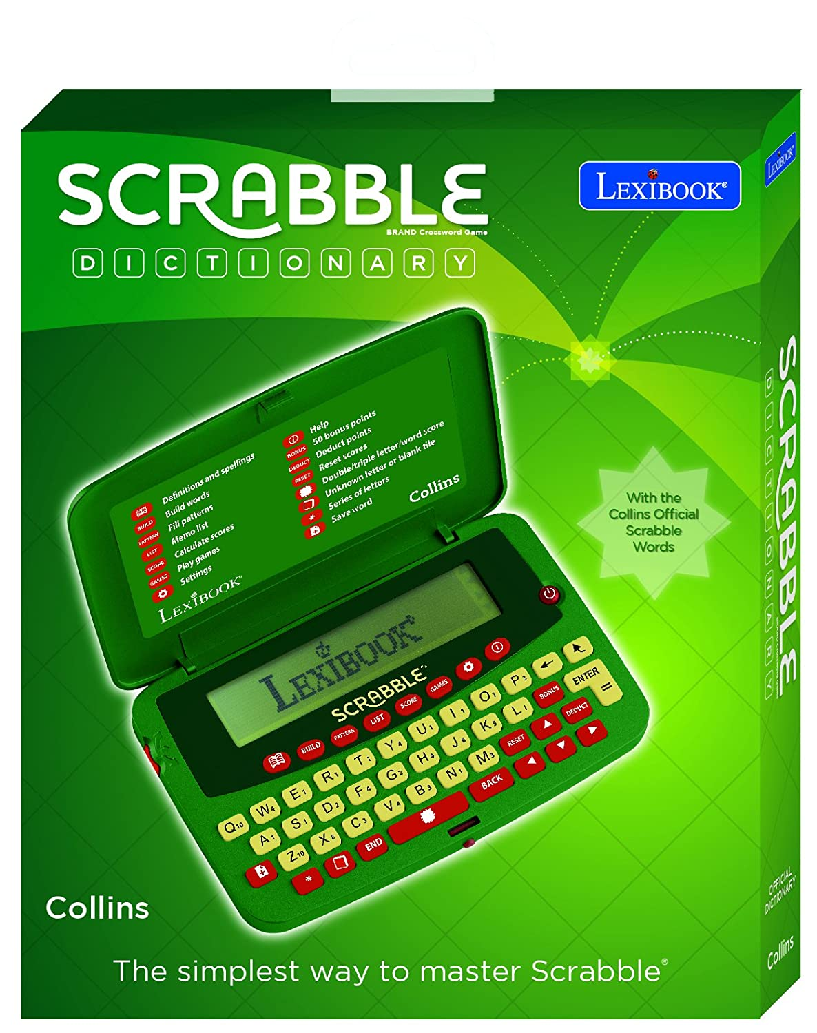 Lexibook Scf 328aen Deluxe Electronic Scrabble Dictionary Amazon