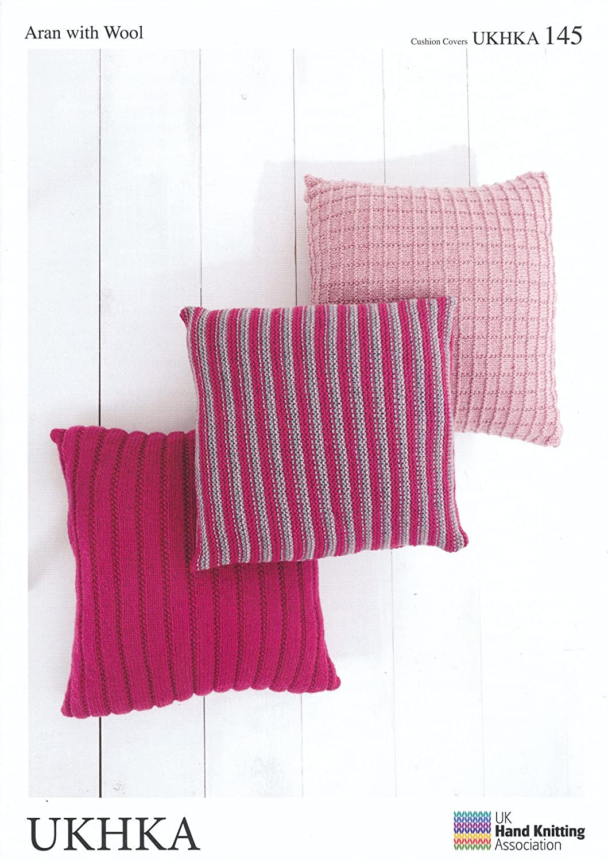 UKHKA 145 Knitting Pattern Cushion to knit in Chunky and Aran wool ...