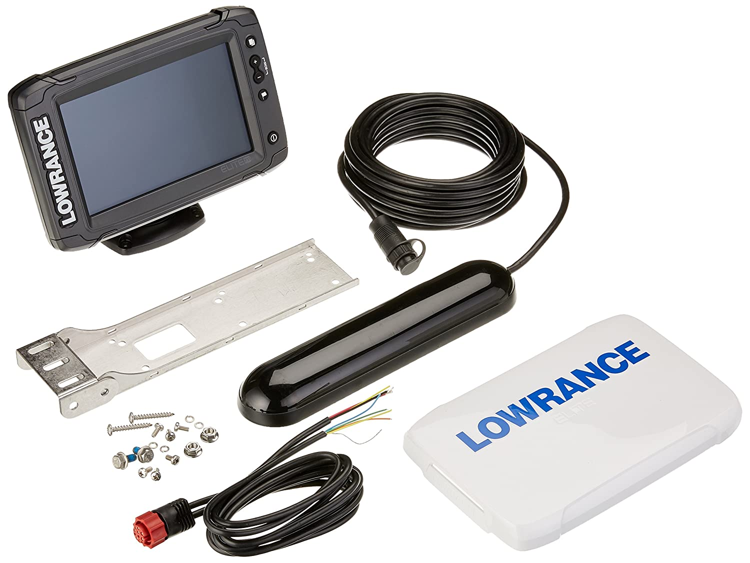 Lowrance Elite 7 Ti Inch Fish Finder With Totalscan Transducer C Map Pro Card Chirp Wiring Diagram 5 Sports Outdoors