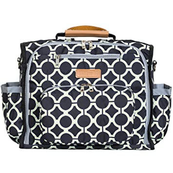 designer disper bag o83p  Bateman Bags Sleek City Dweller Convertible Designer Diaper Bag  17x8x11-Inch with Changing Mat,