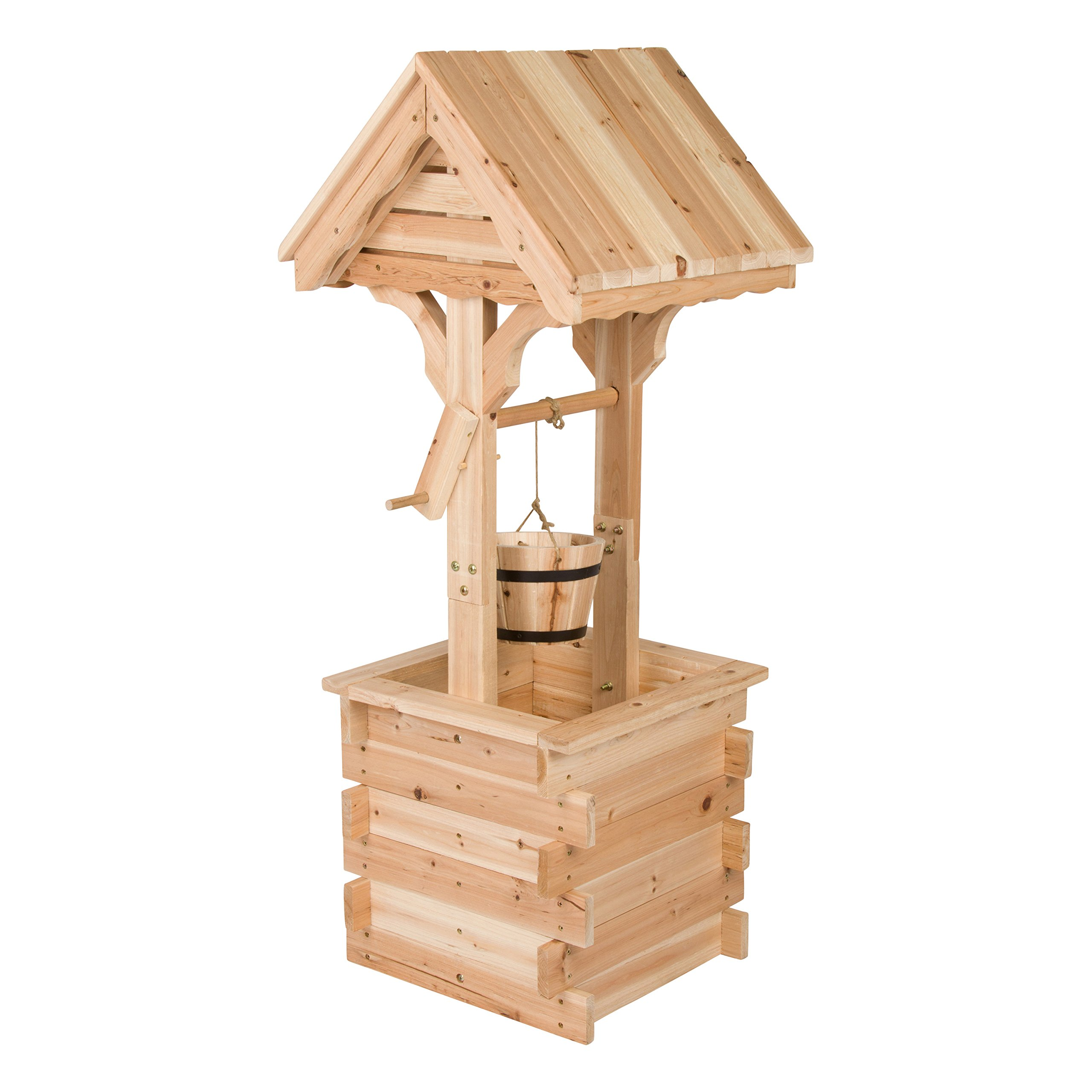 Shine Company Decorative Wishing Well, Natural
