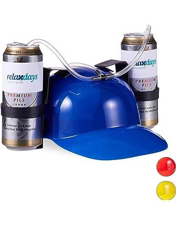 Birra Soda Bevande Guzzler Casco Cappello da Bere Cappello di Paglia Cappello da Festa Nero Cappello Nero