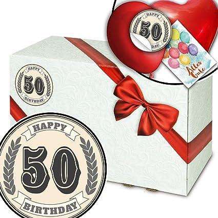 50º aniversario, paquete de regalo, 50 cumpleaños, idea de ...