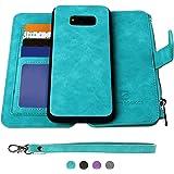 Samsung Galaxy S8 Case, [Detachable Wallet Folio][2 in 1][Zipper Cash Storage][Up to 14 Card Slots 1 Photo Window] Premium PU
