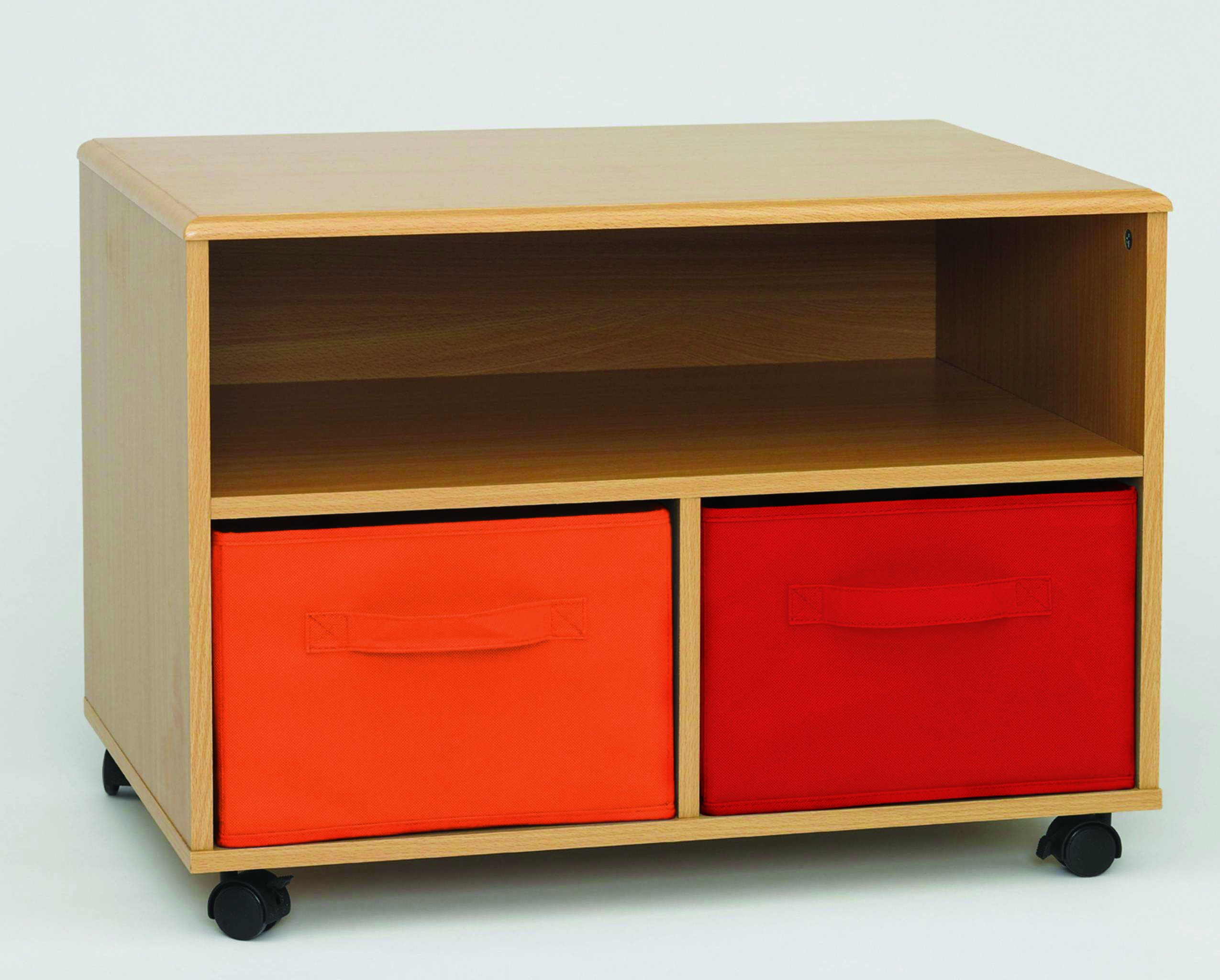 4D Concepts Crawford Boys TV Cart - TV cart with durable casters Removable drawers in Red and Orange Rolled edges with durable beech PVC laminate - tv-stands, living-room-furniture, living-room - 81n9pawil9L -