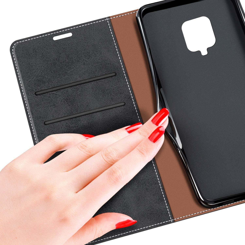 MOBESV Funda para Xiaomi Redmi Note 9S Funda M/óvil Xiaomi Redmi Note 9S Magn/ético Carcasa para Xiaomi Redmi Note 9S Funda con Tapa Funda Libro Xiaomi Redmi Note 9S Rojo