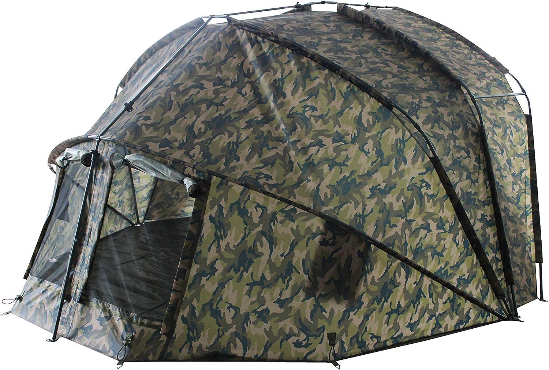 MK Angelsport Fort Knox 2.0 Camou 2 Mann Dome Zelt Karpfenzelt Angelzelt incl.Gummihammer