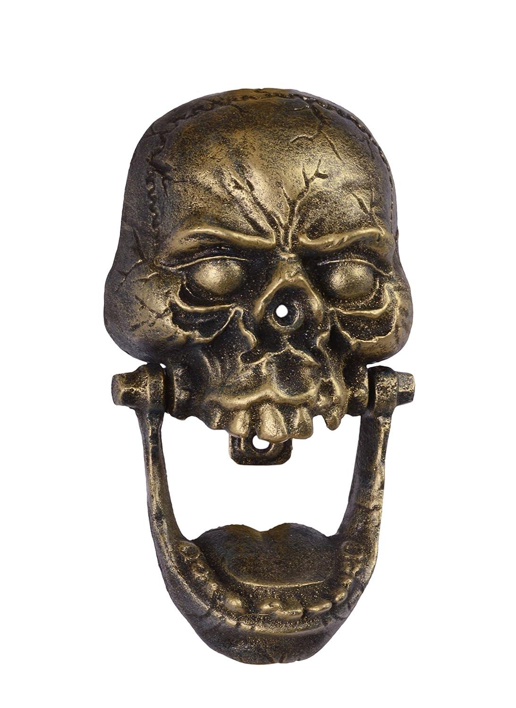 Diseñ o de puerta battitori hierro fundido con diseñ o de: crá neo de calavera 24, 8 x 13, 9 CM Decoratie