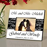 pesonalized mr and mrs wedding frame pesonalized wedding frame wedding gifts - Mr And Mrs Frame