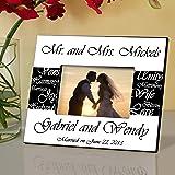 pesonalized mr and mrs wedding frame pesonalized wedding frame wedding gifts - Mr And Mrs Photo Frame
