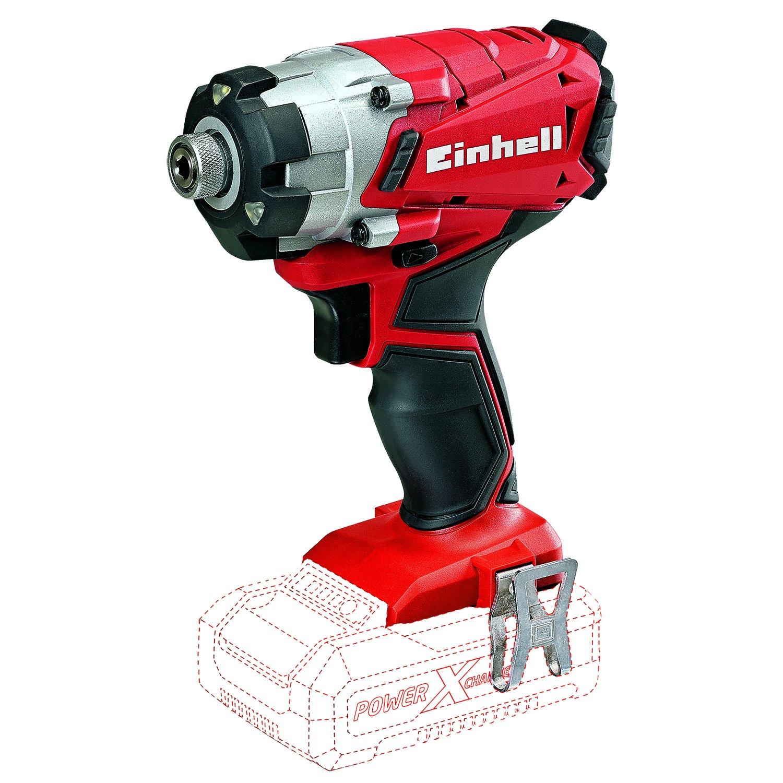 Einhell Expert TE-CI 18 Li Solo - Atornillador de impacto (18 V, ió n de litio, 72 mm, 162 mm, 195 mm, 1 kg), color rojo y negro ión de litio 4510023 pro profesional