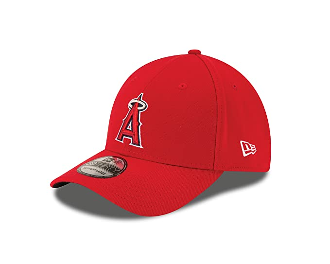 super popular 9b3e8 61a79 New Era MLB Los Angeles Angels Team Classic Game 39Thirty Stretch Fit Cap,  Red,