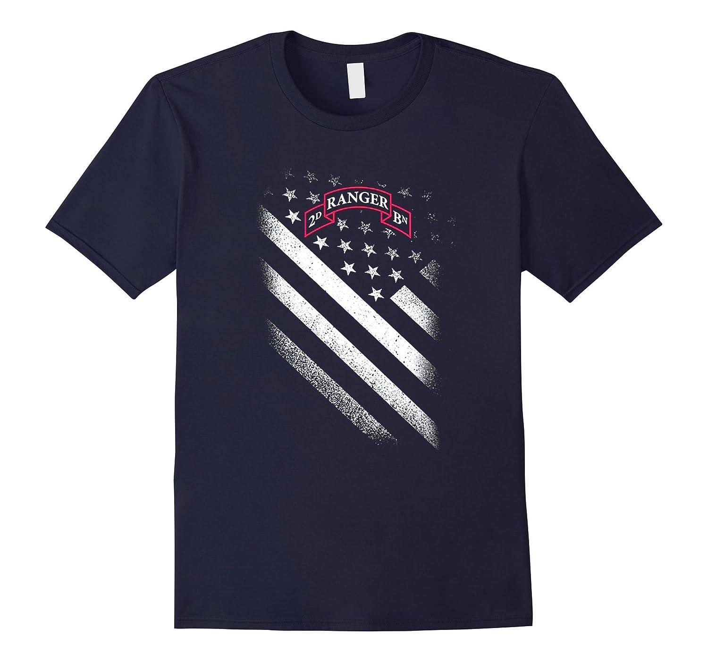 2ND RANGER BATTALION AMERICAN FLAG TSHIRT-BN