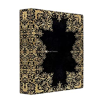 Amazon 3 Ring Binder Antique Style Black Gold Filigree Book