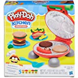 Play-Doh - Kitchen Creations - Burger BBQ inc 5 Tubs of Dough & Accessories - Creative Kids Toys - Ages 3+