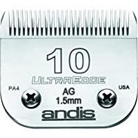 "Andis Ultra Edge Size Negro alfonbrilla para Mouse, 10: 1/16"" (1.5 mm), Plateado, Tamaño 10"