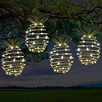 Solar Spiral Lights, 4 stuks LED Solar Spiraal Lantaarn Creatieve Iron Art Lantaarns Led Hangende Decoratieve Lamp…