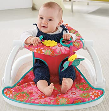 Fisher Price Sit Me Up Floor Seat Pink Flowers