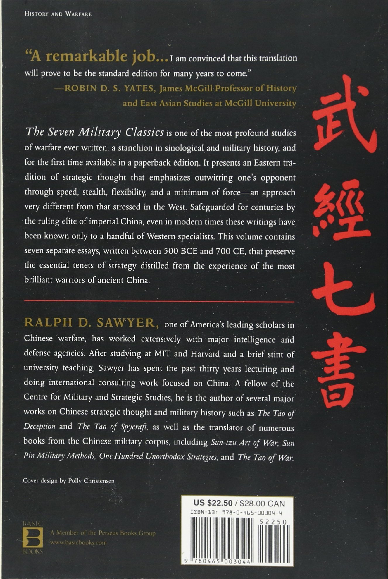 The Seven Military Classics Of Ancient China (history And Warfare): Ralph  D Sawyer: 9780465003044: Amazon: Books