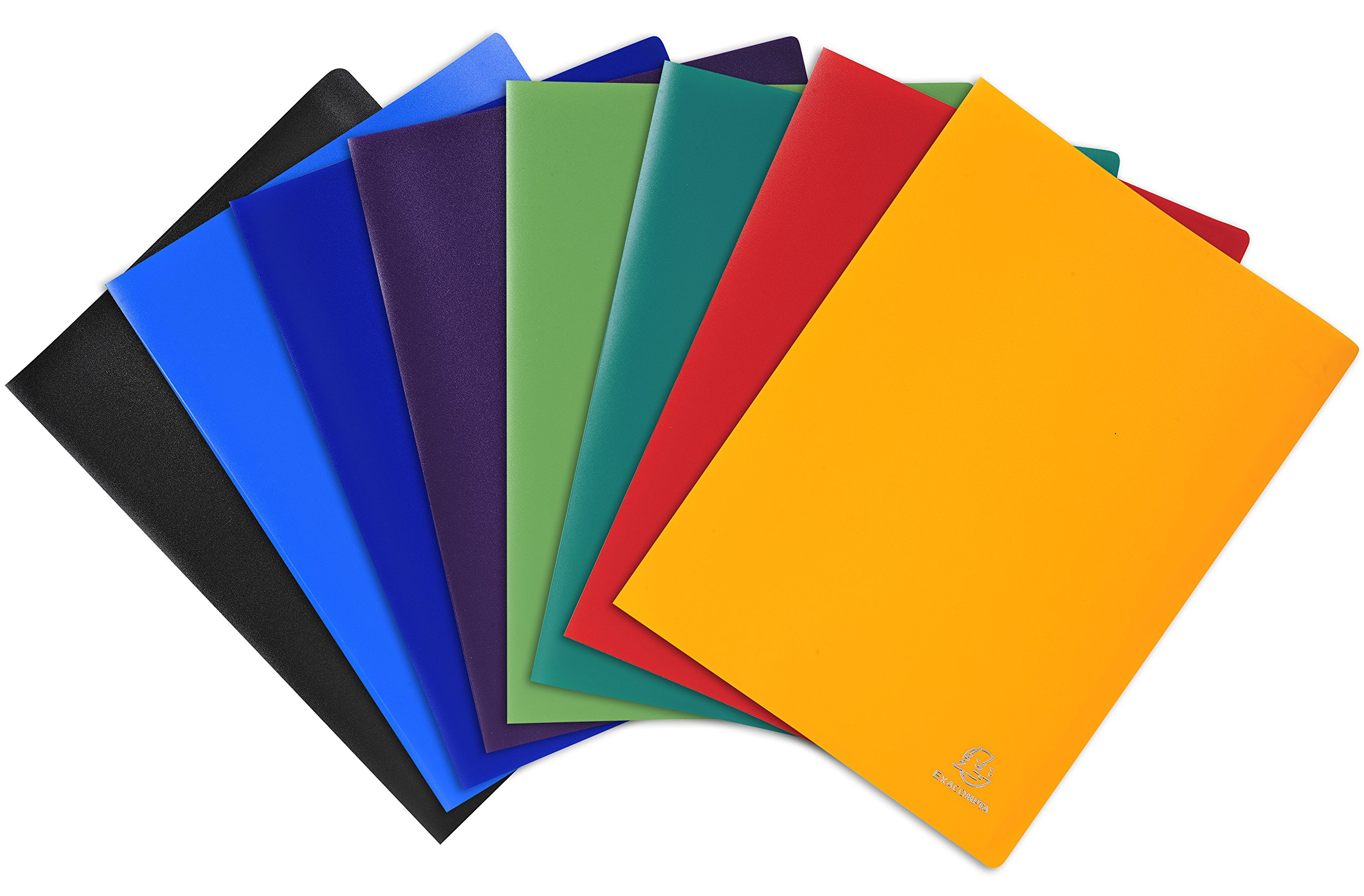 Exacompta Soft PP Welded Display Book, A4, 60 Pockets - Assorted Colours, Pack of 8 by Exacompta
