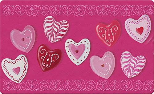 Toland Home Garden Heart Cookies 18 x 30 Inch Decorative Valentine Floor Mat Dessert Cookie Doormat
