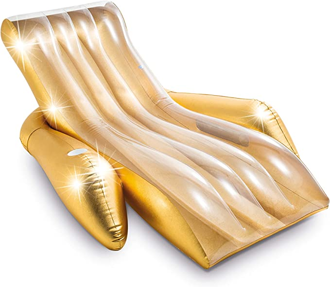 Intex 56803EU - Sillón Hinchable Oro con Posavasos