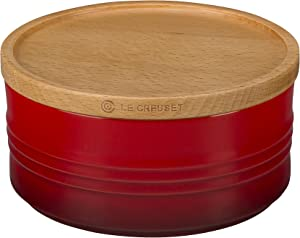 Le Creuset Stoneware Canister with Wood Lid, 23 oz. (5.5