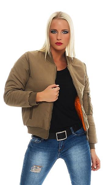 CBKTTRADE - Chaqueta - Bomber Jacket - para Mujer