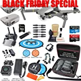 DJI Mavic PRO Platinum Drone Quadcopter Elite Combo with 3 Batteries, 4K Professional Camera Gimbal Bundle Kit with 80W Rapid Charger, Charging Hub, Carrying Case and Must Have Accessories