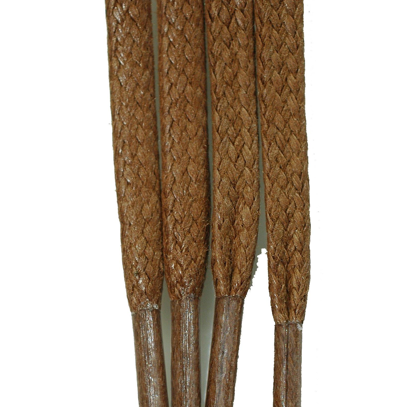 TZ Laces Flat Wax 3/16'' 5mm x 39'' 100cm Light Brown/Tan