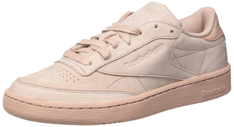 Reebok Club C 85 RS, Zapatillas de Gimnasia para Hombre 42.5 EU|Rosa (Shell Pink/Gold Met)