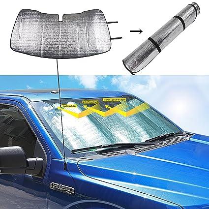 Amazon.com  Voodonala Auto Windshield Window Sunshade for Ford F150 F250  F350 Trucks (Silver)  Automotive 494653c0a60