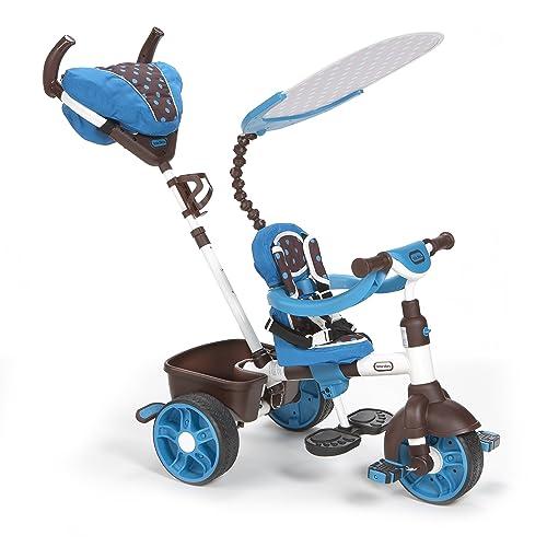 Little Tikes 634352E4 Tricycle 4 en 1 Sports Edition Trike Bleu blanc