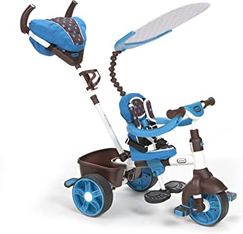 Little Tikes 4-in-1 Sports Edition Trike Ride On (Blue/White)