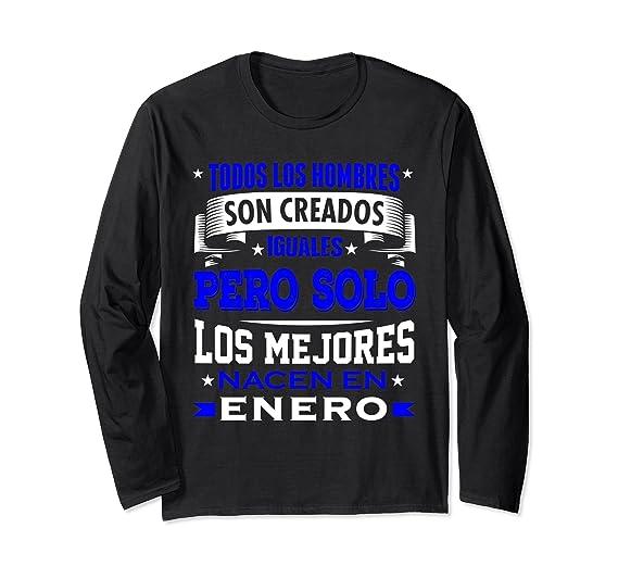 Amazon.com: Los Hombres Iguales Los Mejores Enero Birthday Shirt Gift: Clothing