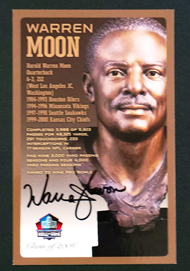 Limited Edition # of 150 PRO FOOTBALL HALL OF FAME Gale Sayers Signed Bronze Bust Set Autographed Card with COA