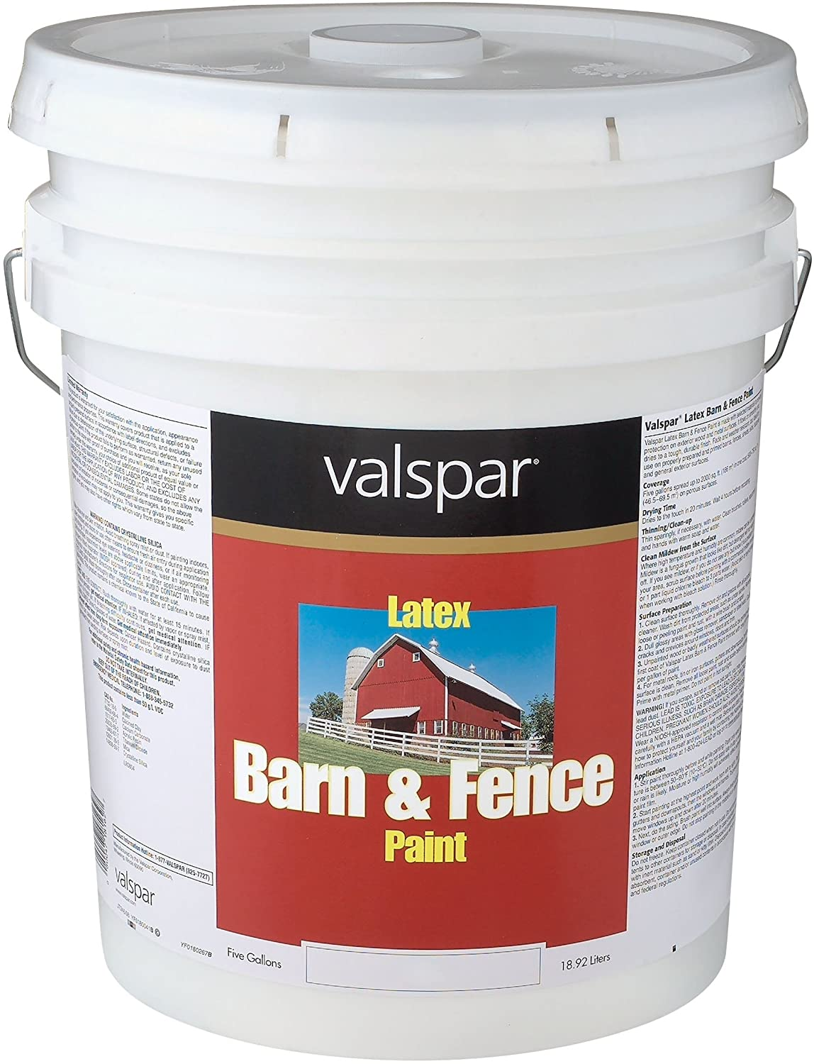 Amazon.com: 1 Gallon White Exterior Barn U0026 Fence Latex Paint 18 3121 70 GL:  Home Improvement