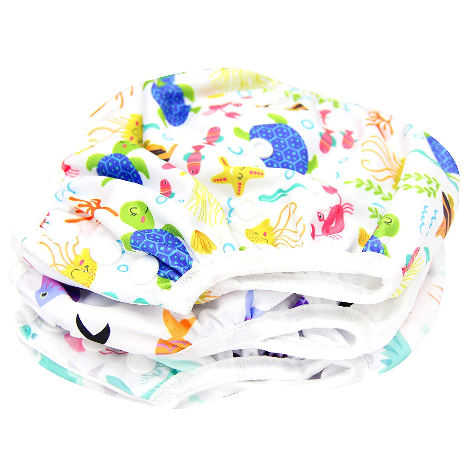 Lansprit 3 Pack Swim Diaper for Baby /& Toddle,Reuseable Washable Diaper Swim for Swimming Lesson /& Baby Shower Gifts