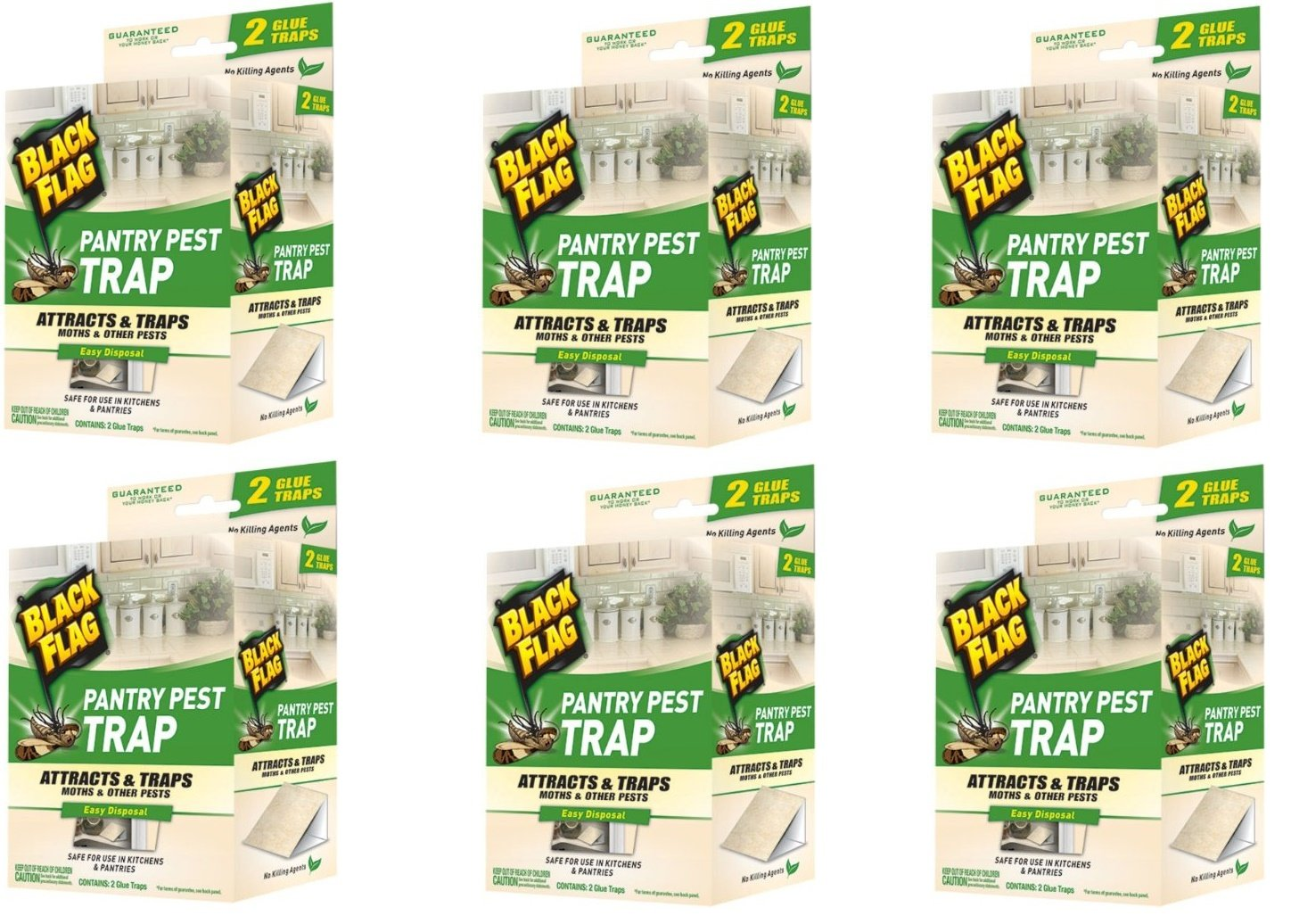 Black Flag Pantry Pest Traps - 12 Total(6 Packages with 2 Traps Each) by Black Flag