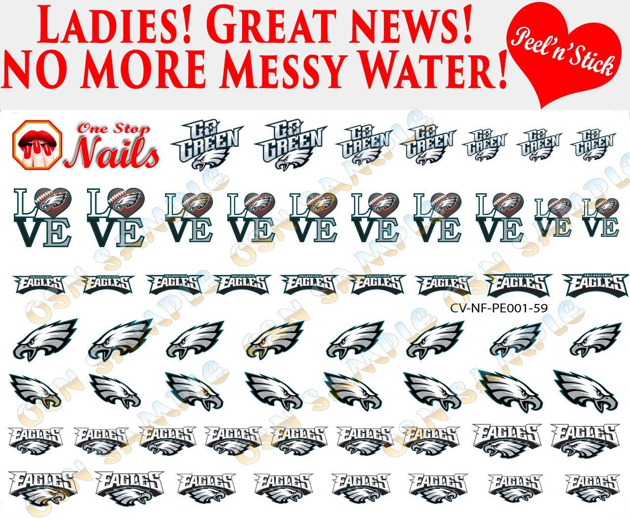 Amazon.com: Philadelphia Eagles Waterslide Nail Decals (Tattoos) V1 ...