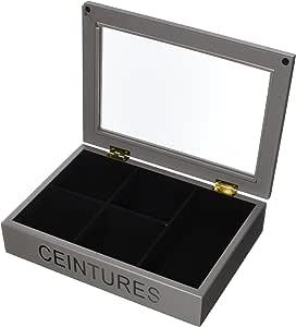EMDE 846tbte-0 Caja de Cinturones/Corbatas Taupe: Amazon.es: Hogar