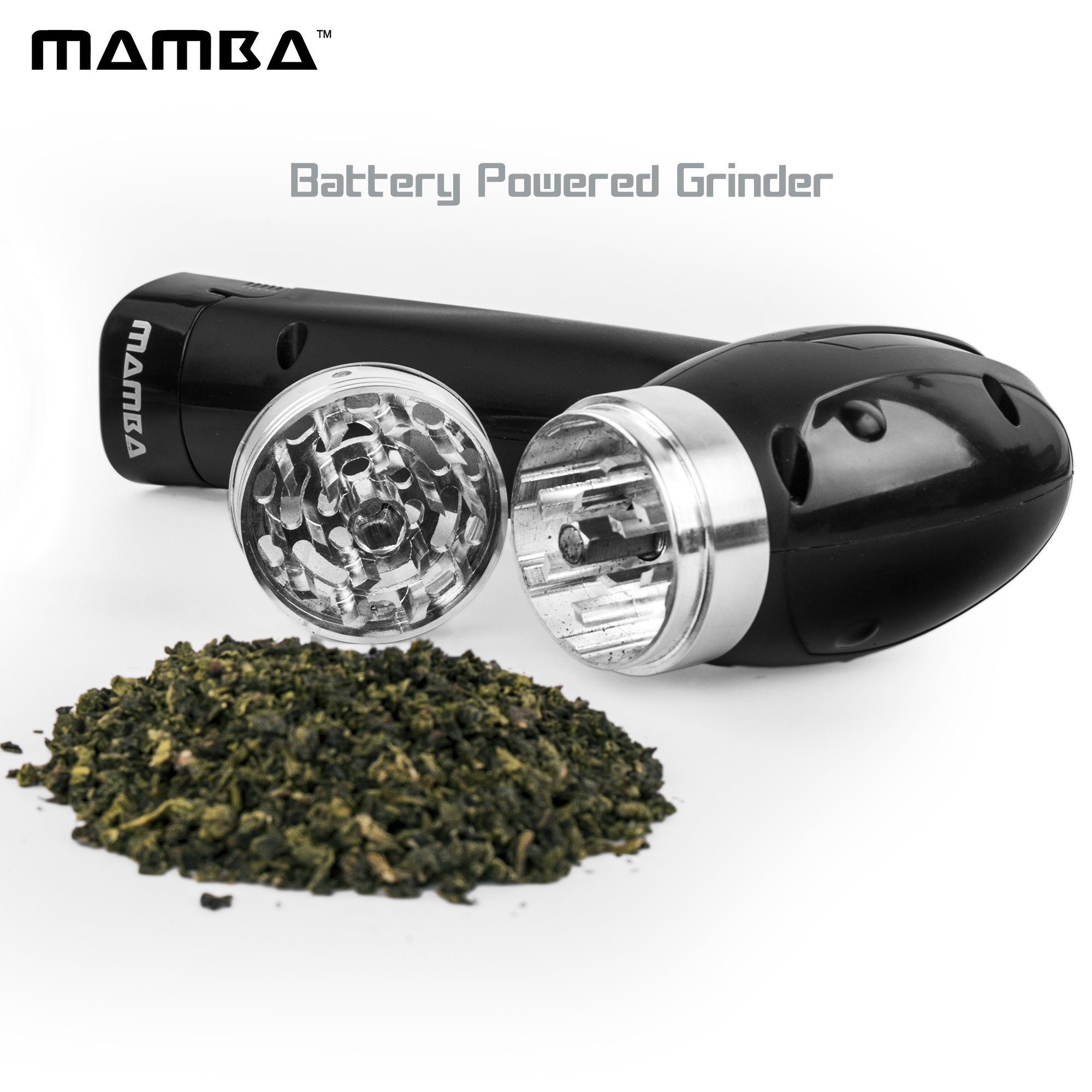 Mamba Electric Herb Grinder 20X Faster than Manual Grinders Automatic Herb Crusher. Never Jams. Easy-To-Use One-Handed Operation. Grinds the Toughest Herbs Optimal Grinding With Minimum Waste