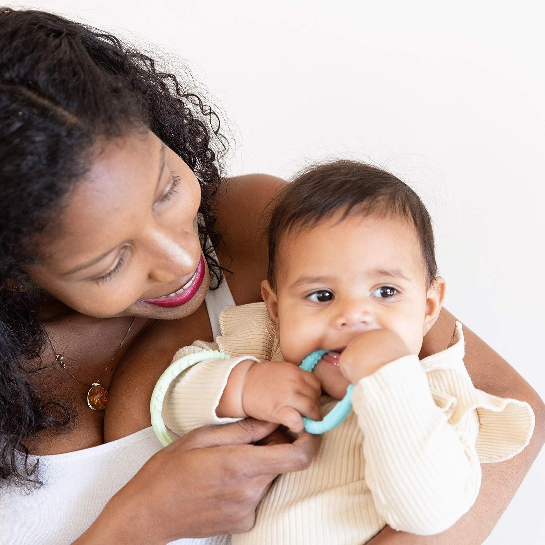 Gum Soothing 4 Pack Sensory Babies 3 Months+ Bumkins Silicone Teething Rings