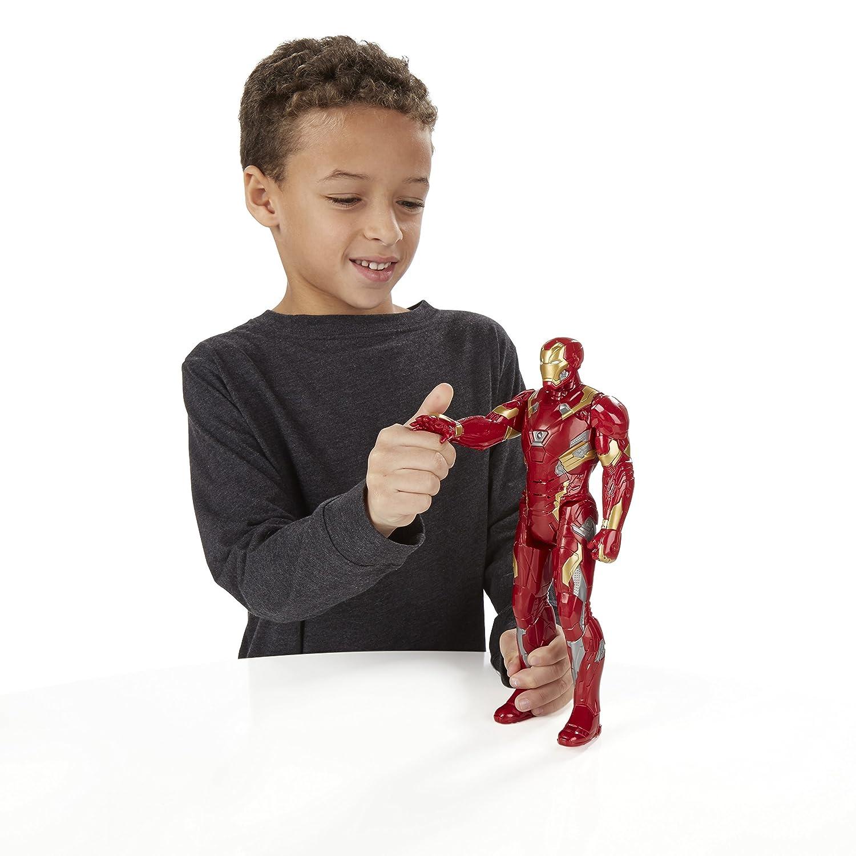 Marvel Titan Hero Hero Hero Serie Bürgerkrieg Iron Man Elektronische Figur 45d0b1