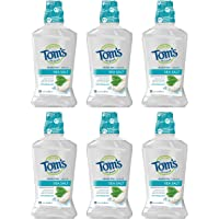 Deals on 6-Pack Toms of Maine Sea Salt Natural Alcohol-Free Mouthwash 16 oz